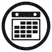 Month Calendar Rounded Grainy Icon Stock Illustration