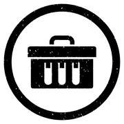 Analysis Box Rounded Grainy Icon Stock Illustration