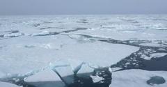 Broken Sea Ice Landscape Spitsbergen Stock Footage