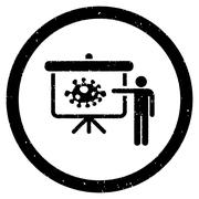 Bacteria Lecture Rounded Grainy Icon Stock Illustration