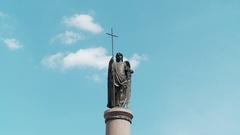 Belarus. Brest. 15 July 2015. Millennium Monument of Brest. Stock Footage