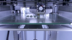 Professional 3d printer in working operation Stock Footage