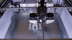 Three dimensional printer during work in laboratory, 3D plastic printer, 3D Stock Footage