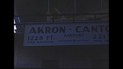 Vintage 16mm film, 1951, Akron Canton airport Capitol DC3 Stock Footage