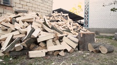 Man running with an ax Stock Footage