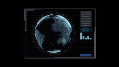 Hi Tech User Interface Head Up Display Stock Footage