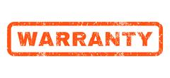 Warranty Rubber Stamp Stock Illustration