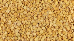 Slow rotation of the heap of dry peas grains Stock Footage