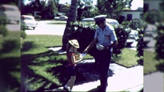 Friendly Postal Worker Mailman Delivers Mail 1960s Vintage Film Home Movie  Stock Footage