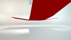 4K 60 fps loop. Black friday and cyber monday sale red cube 80 percent discount Stock Footage