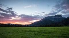 Sunrise Time lapse landscape in mountain, Tatranska Javorina, Slovakia, Tatras Stock Footage