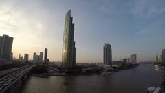 Chao phraya river of Bangkok city Stock Footage
