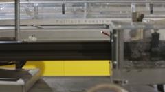 Plastic windows factory - PVC bar Stock Footage