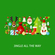 Jingle All The Way Greeting Stock Illustration