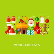 Winter Greetings Concept Stock Illustration
