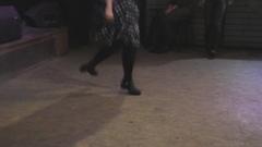 Irish folk dance solo performs girl Stock Footage