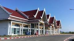 Luang Prabang International Airport Stock Footage