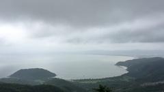 High angle view of Da Nang bay Stock Footage