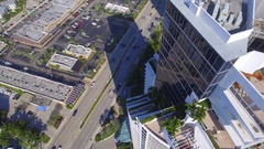 Aerial drone video Trump Towers Stock Footage