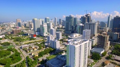 Aerial drone footage Brickell Miami Florida Stock Footage