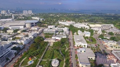 Aerial video construction in Miami Beach 4k Stock Footage