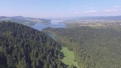 Panorama from Pieniny to Czorsztyn Lake and Tatra Mountains - Poland. Stock Footage