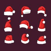 Santa christmas hat vector illustration Stock Illustration