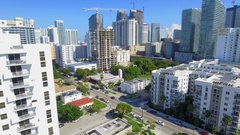 Brickell City Center Miami aerial Stock Footage