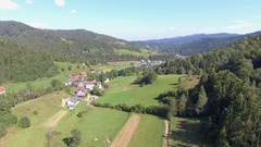Mountain landcsape at summer time in south of Poland. Stock Footage
