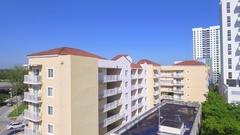 Aerial video west Brickell Miami Stock Footage
