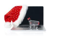 Online Christmas shopping Kuvituskuvat