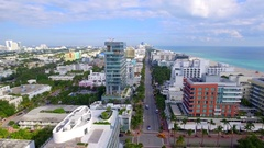 Modern architecture Miami Beach Stock Footage
