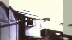 Old Steam Train On Railroad Tracks Engineer Waves Vintage Film Home Movie 10717 Stock Footage
