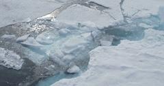 Sea ice parting Stock Footage
