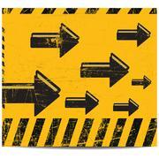 Arrow grunge banner Stock Illustration