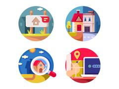 Real estate market Stock Illustration