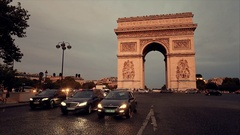This video is about Triumphal arch. Paris. France. View of Place Charles de Gaul Stock Footage