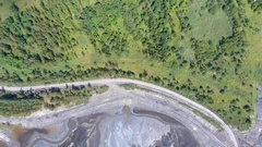 Degraded landscape in south of Poland. Destroyed land. View from above. Stock Footage