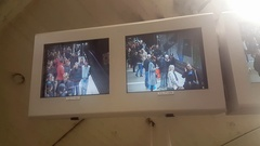 Checking the security of subway system via the closed circuit television CCTV Stock Footage