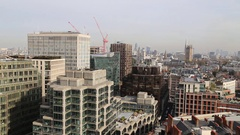 London skyline from Westminster Cathedral, London, UK  Stock Footage