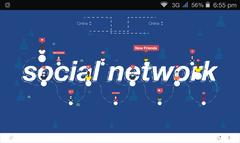 Banner global social network Stock Illustration