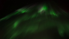 Elegant Dance of the Northern Lights in Real Time Stock Footage