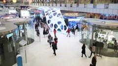Moscow technological forum Open Innovations 2016 in Technopark Skolkovo Stock Footage