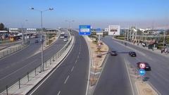 Modern road network at Izmir Konak Stock Footage