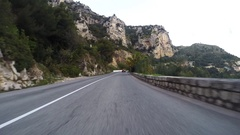 Moving on a high road in the outskirts of Monaco Stock Footage