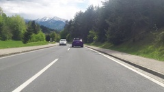 Moving on a road near Worthersee, Austria Stock Footage