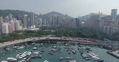 Hong Kong Skyline Aerial View Arkistovideo