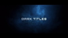 Dark Cinematic Titles Stock After Effects