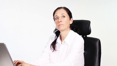 Boss brings employees a lot of work and they desperate Stock Footage