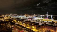 Barcelona Maremagnum  Harbor Tourist City Area Stock Footage